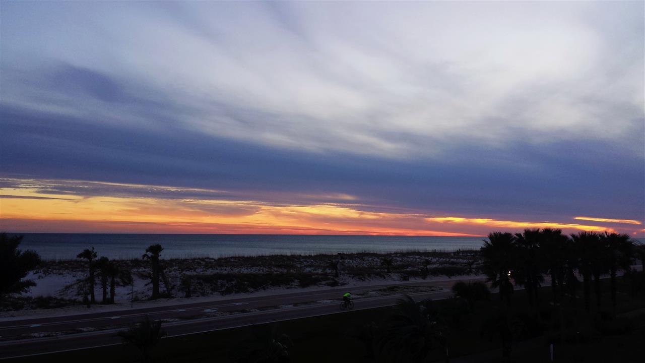 Pensacola Beach January sunset