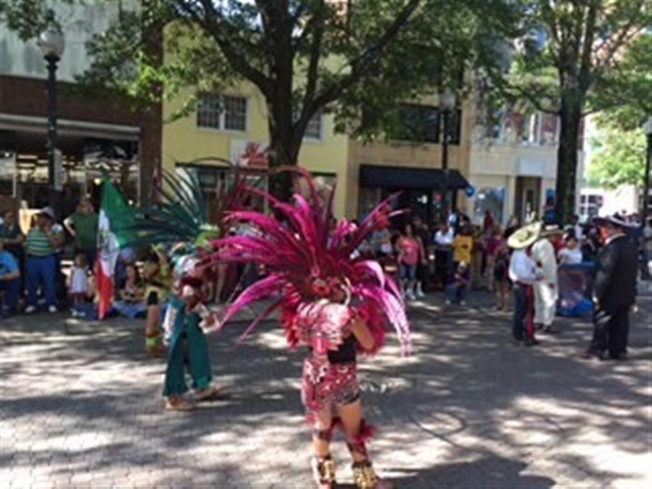 Scene from the International Folk Festival Parade.  Submitted by Townsend Real Estate.