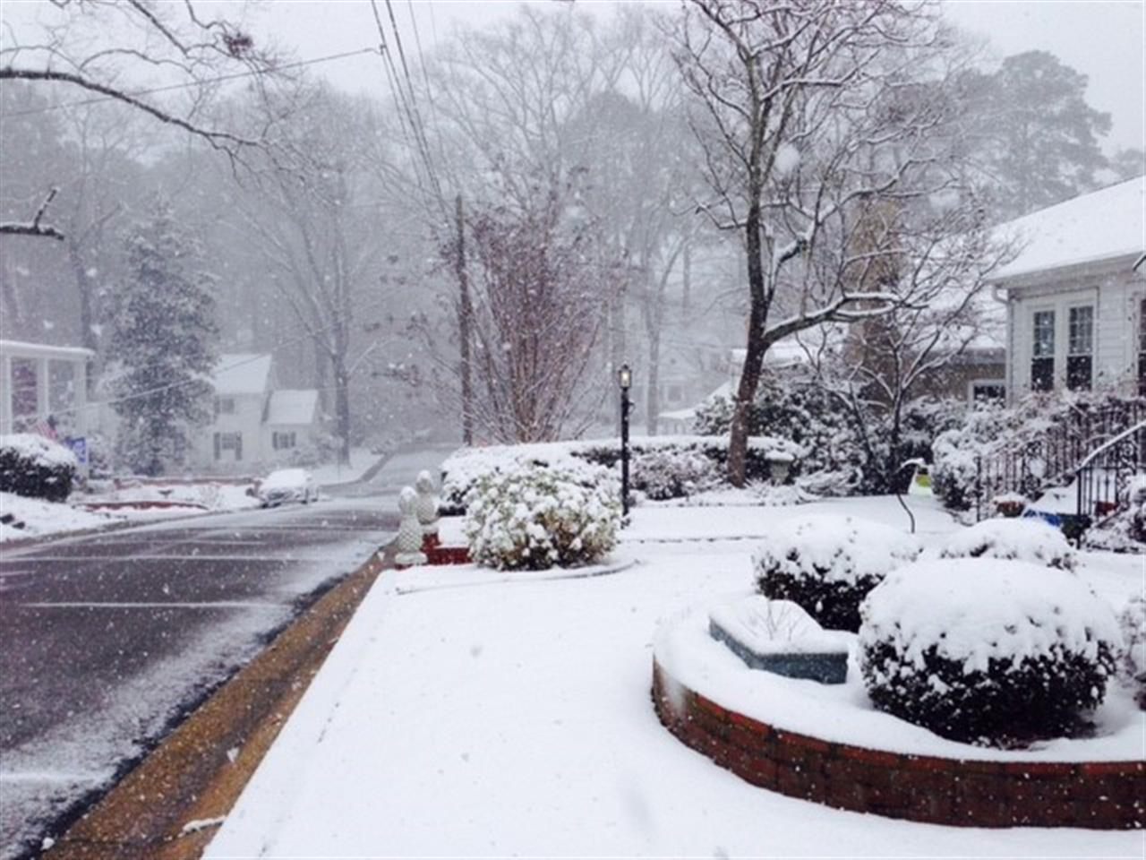 Snow in Haymount.  Submitted by Townsend Real Estate.