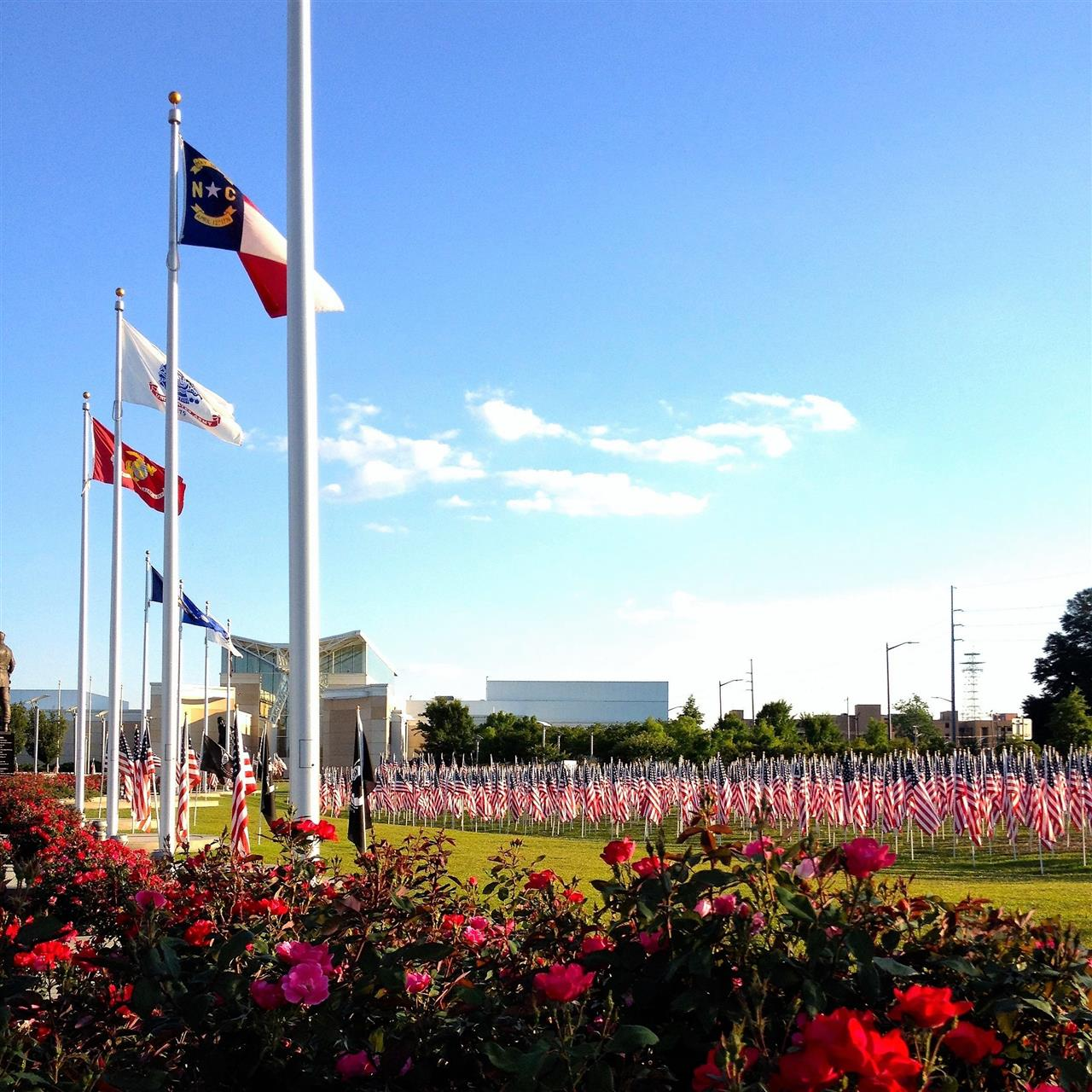 Flags at the Airborne and Special Operations Museum, Fayetteville, North Carolina.  Submitted by Lee McMillan