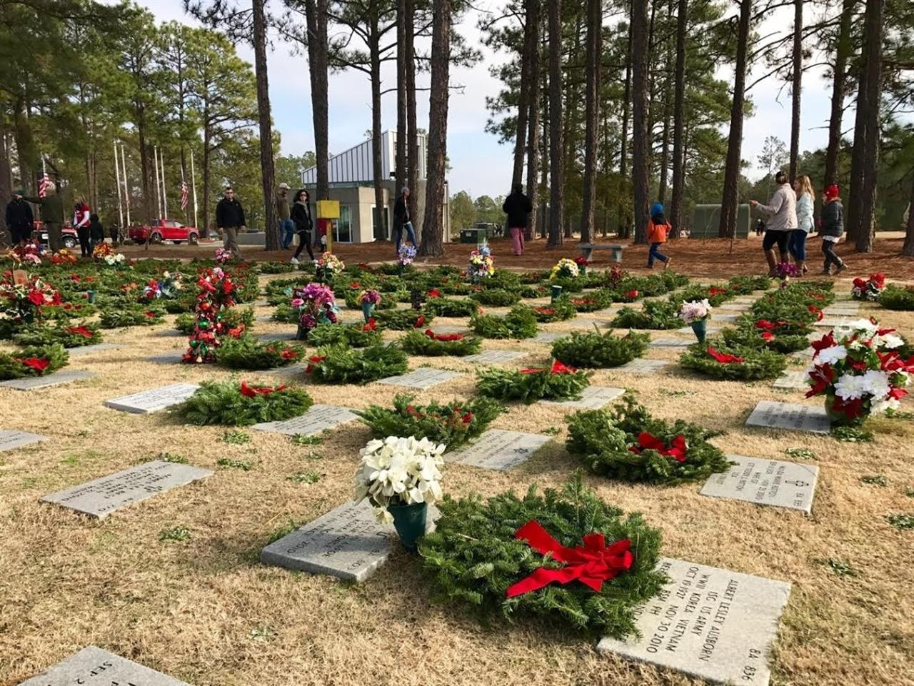 Wreaths Across America sponsored wreath-laying at Sandhills State Veterans Cemetery in Fayetteville, North Carolina.  Submitted by Lee McMillan