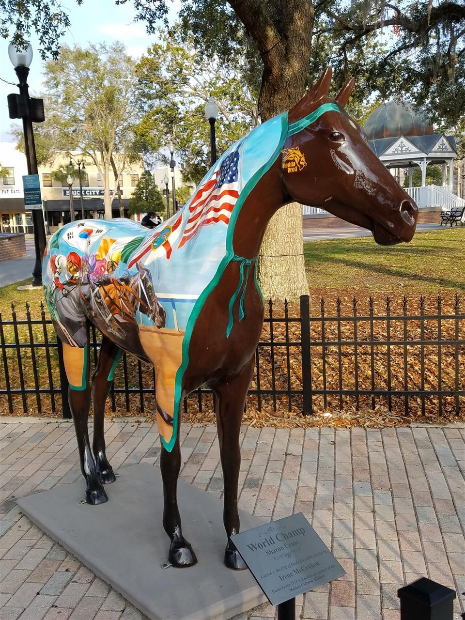 Horse Fever 2011 World Champ Sharon Crute Statue