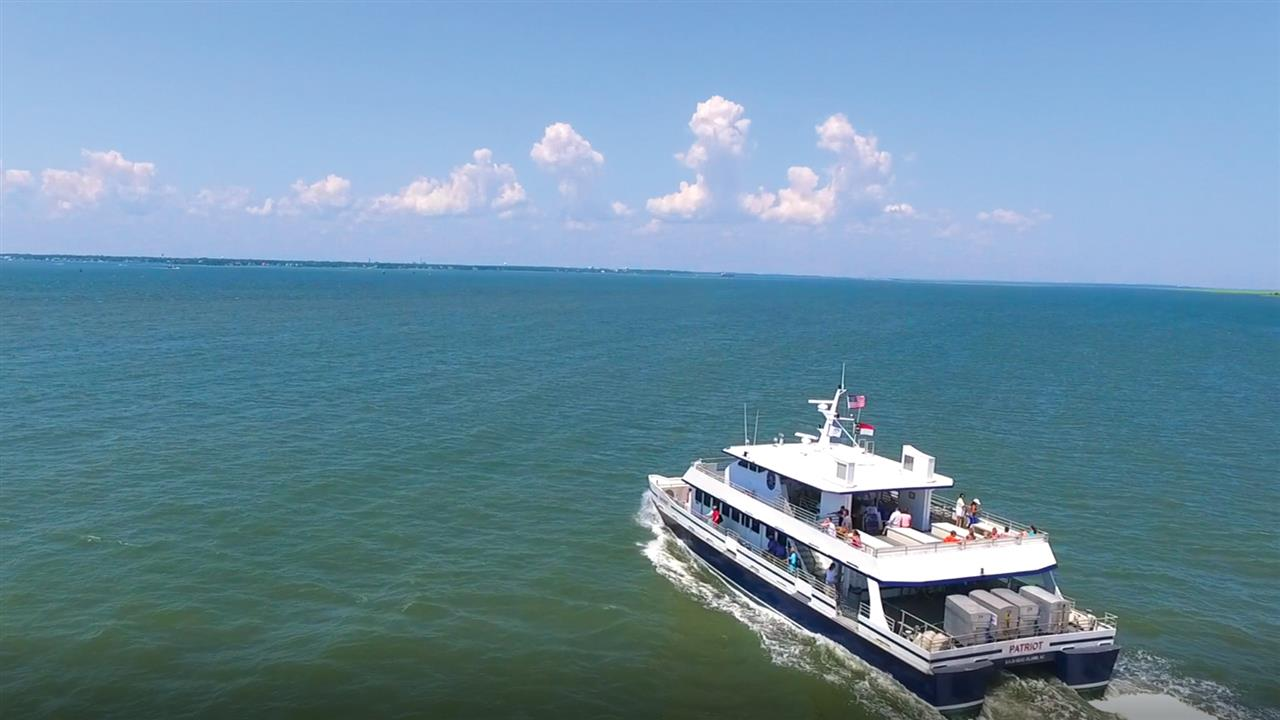 Transportation to the Island is by a passenger ferry. There are no cars on Bald Head Island!