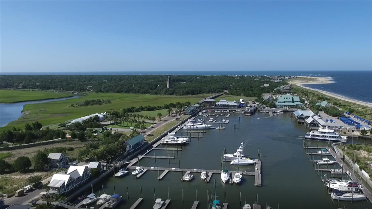 When you first arrive you enter the Bald Head Island harbour.