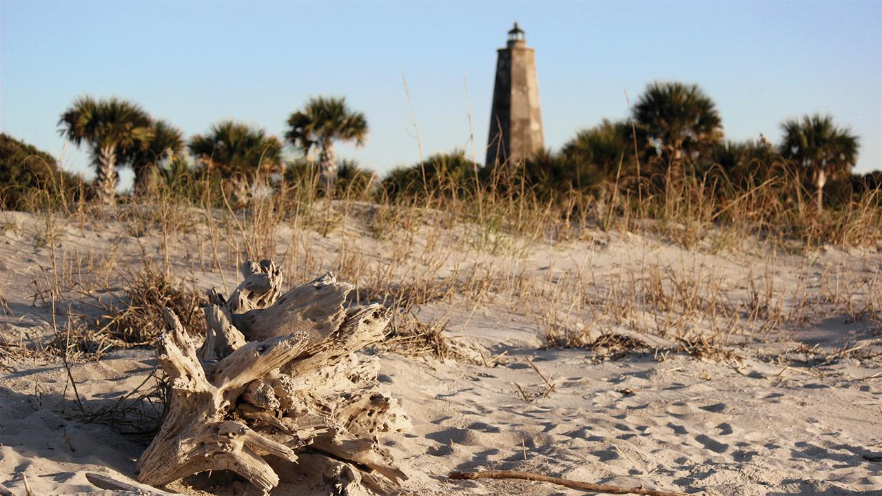 Old Baldy was built in 1817 and still stands proud even though it's not currently used as a functioning lighthouse.