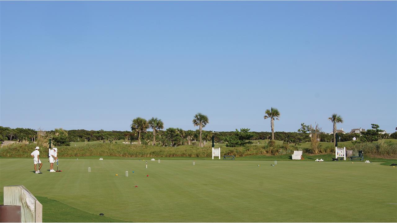 Croquet field at the Bald Head Island Club.
