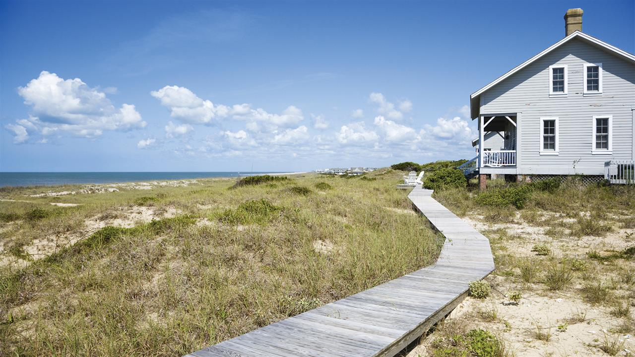Captain Charlies Station homes are a reminder of the history on Bald Head Island.