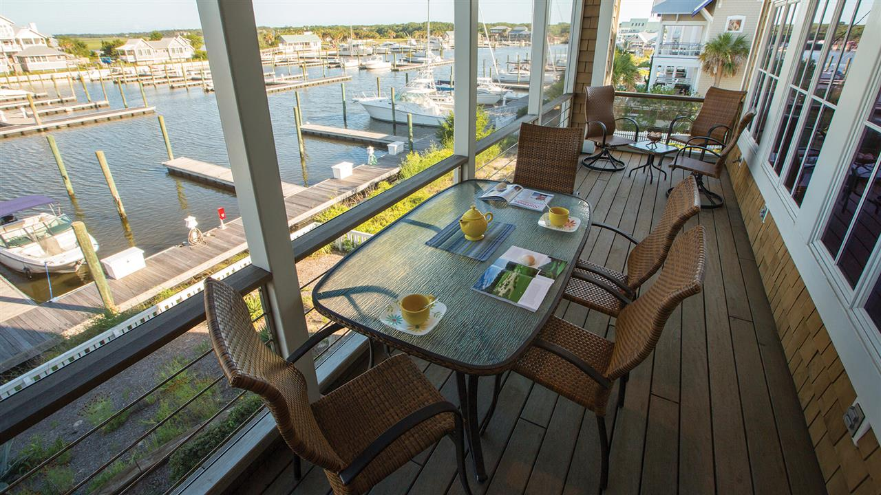 Enjoy dining al fresco from most homes on the Island.