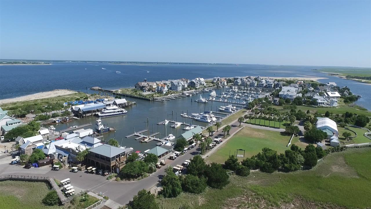 Aerial footage of the BHI Harbour and the Cape Fear River.