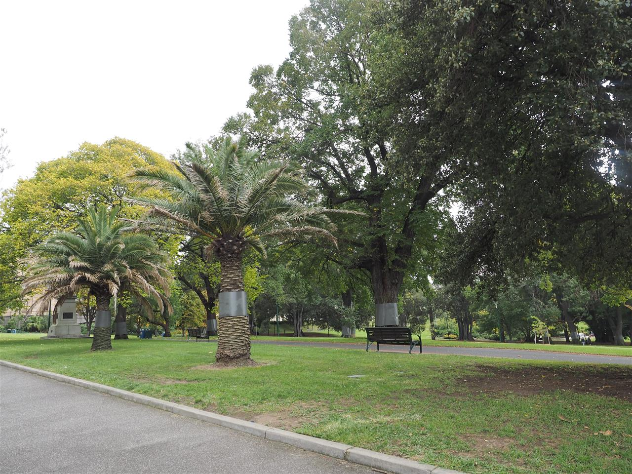 A central Melbourne park beside the Land Titles office