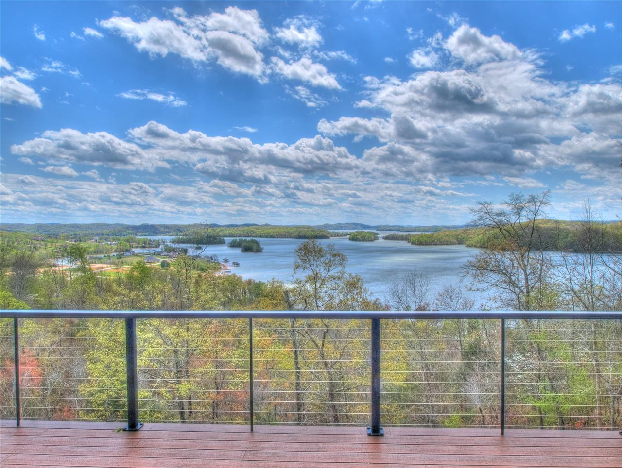 Deck with a view!  Grande Vista Bay community in Rockwood Tennessee. We sold the lot and the owner invited us back when the home was finished to enjoy the view.