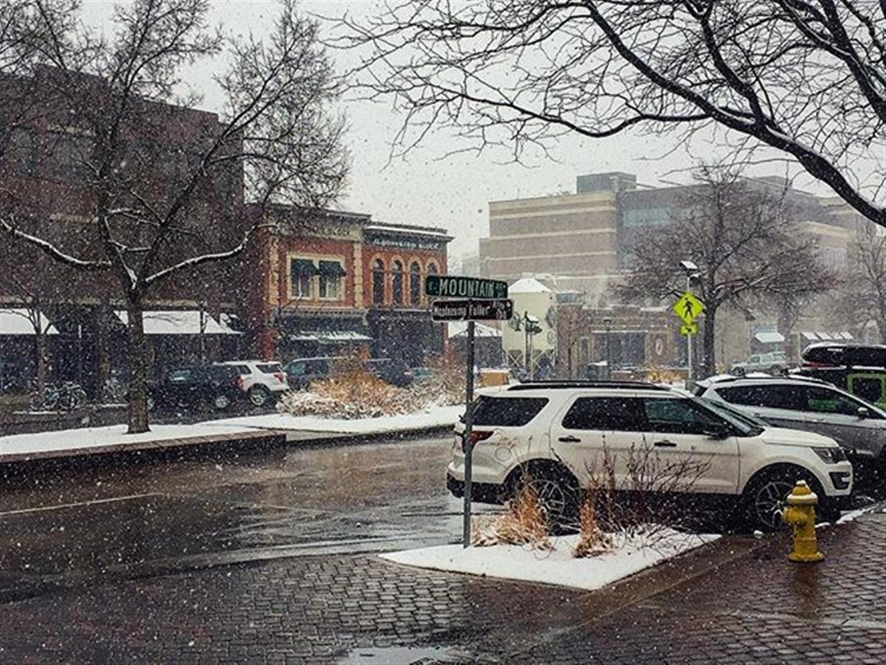 Old Town Fort Collins Snow
