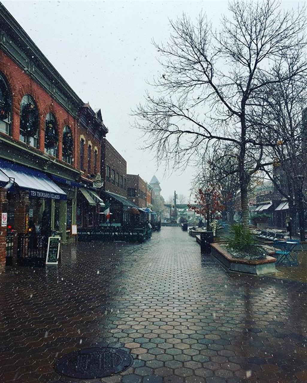 Old Town Fort Collins Winter