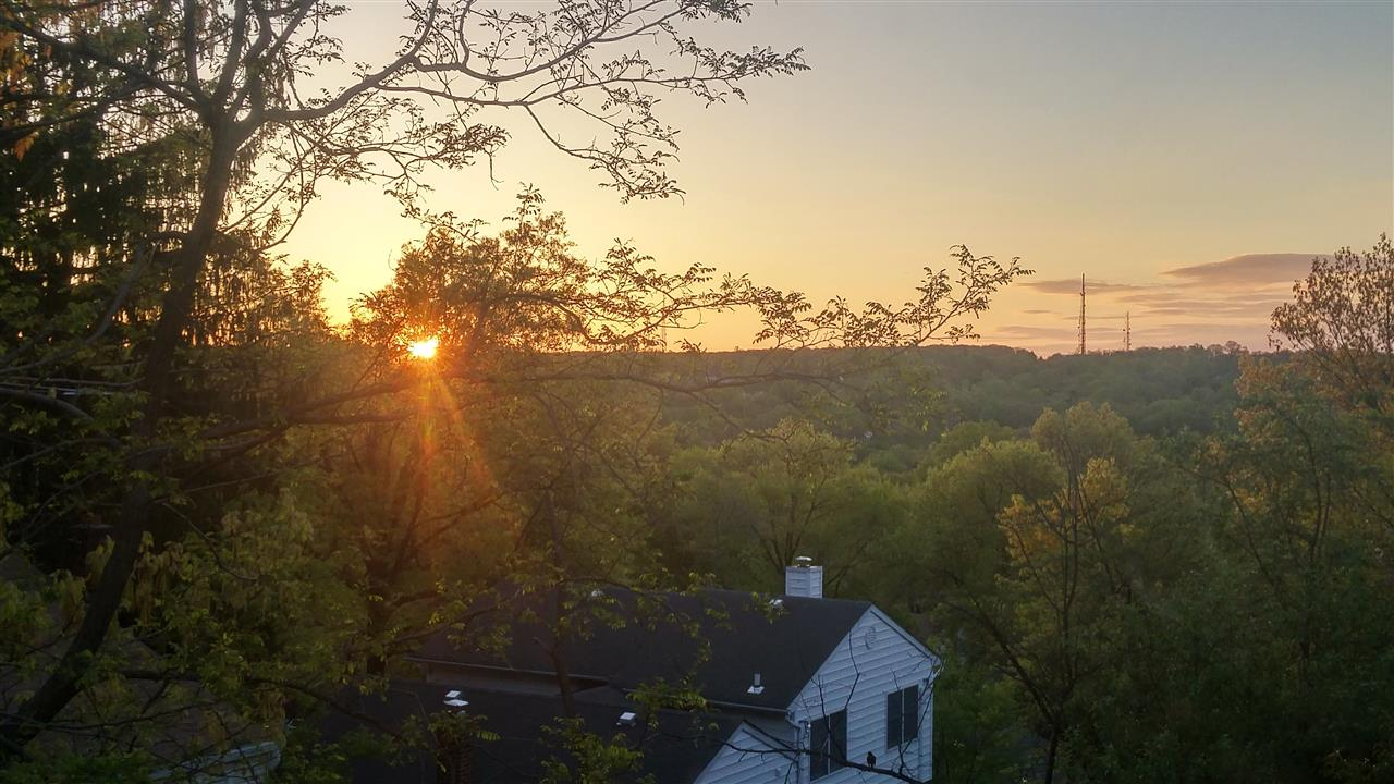 Pleasant sunrise in 0leasantdale section of West Orange.