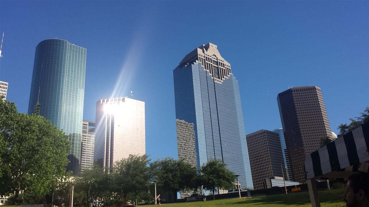 View of Downtown from Buffalo Bayou