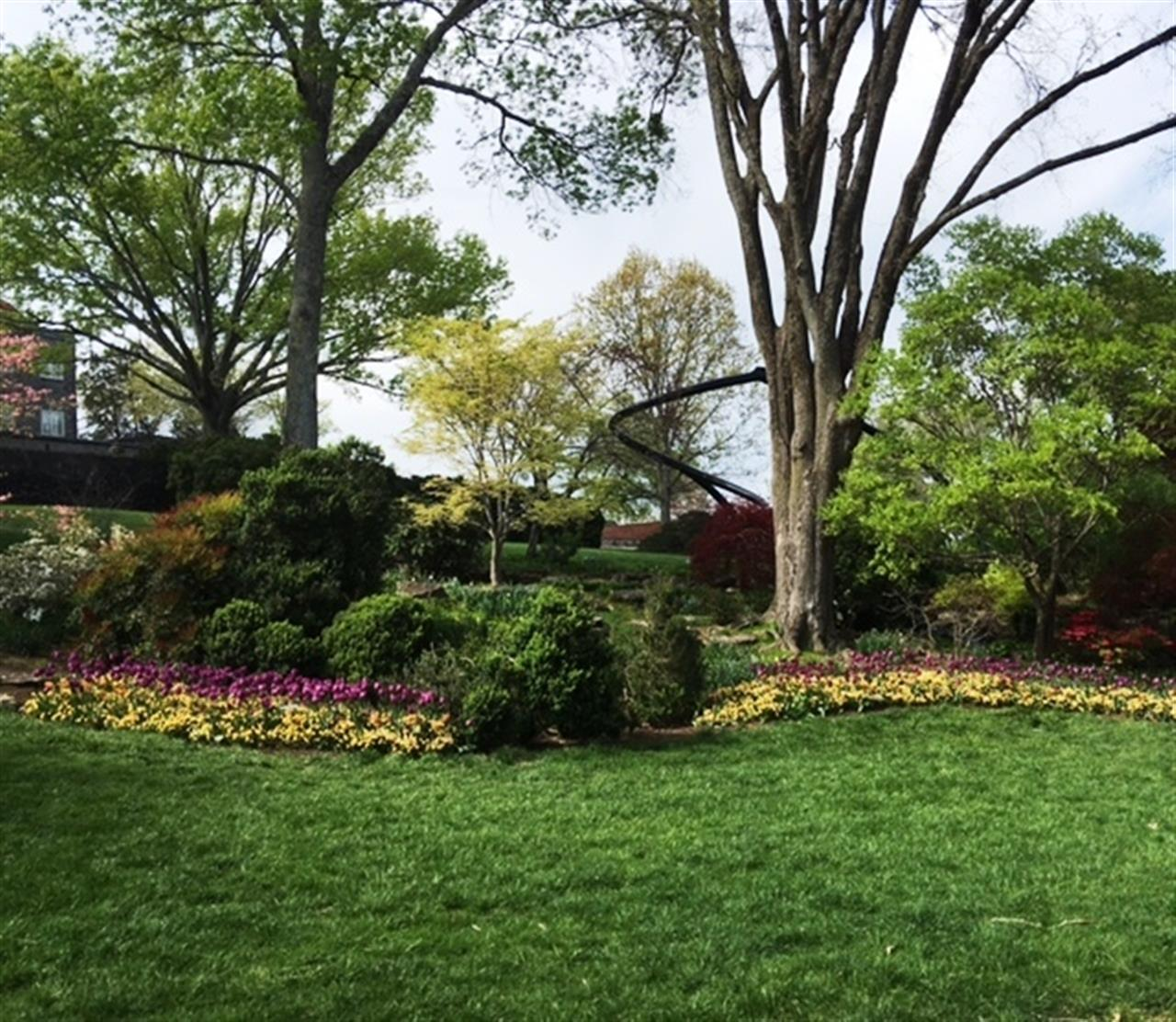 View of the Garden in front of the Mansion at Cheekwood Botanical Gardens in Nashville, TN #leadingRElocal