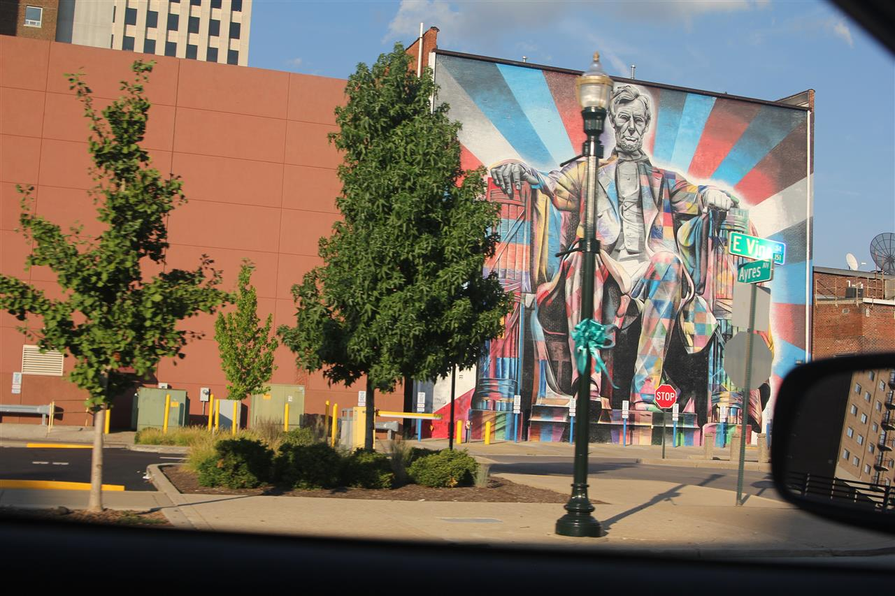 The lincoln mural in downtown lexington