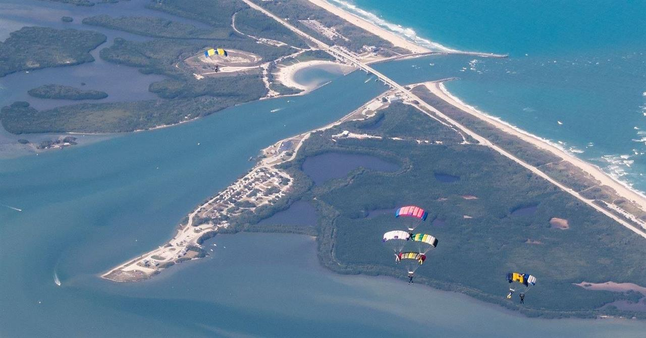 Sebastian Inlet is a great place for world-renowned skydiving.