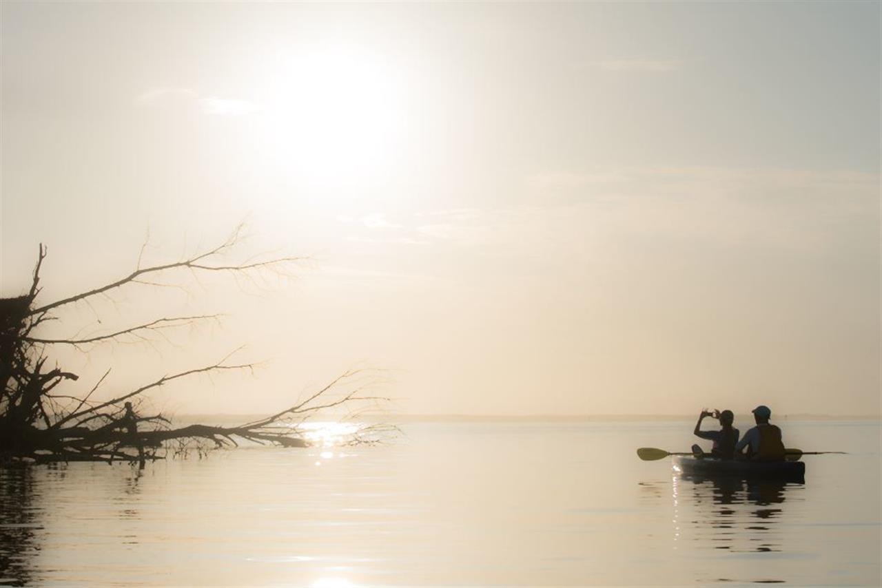 Morning sunrise on the Indian River, Sebastian, Florida