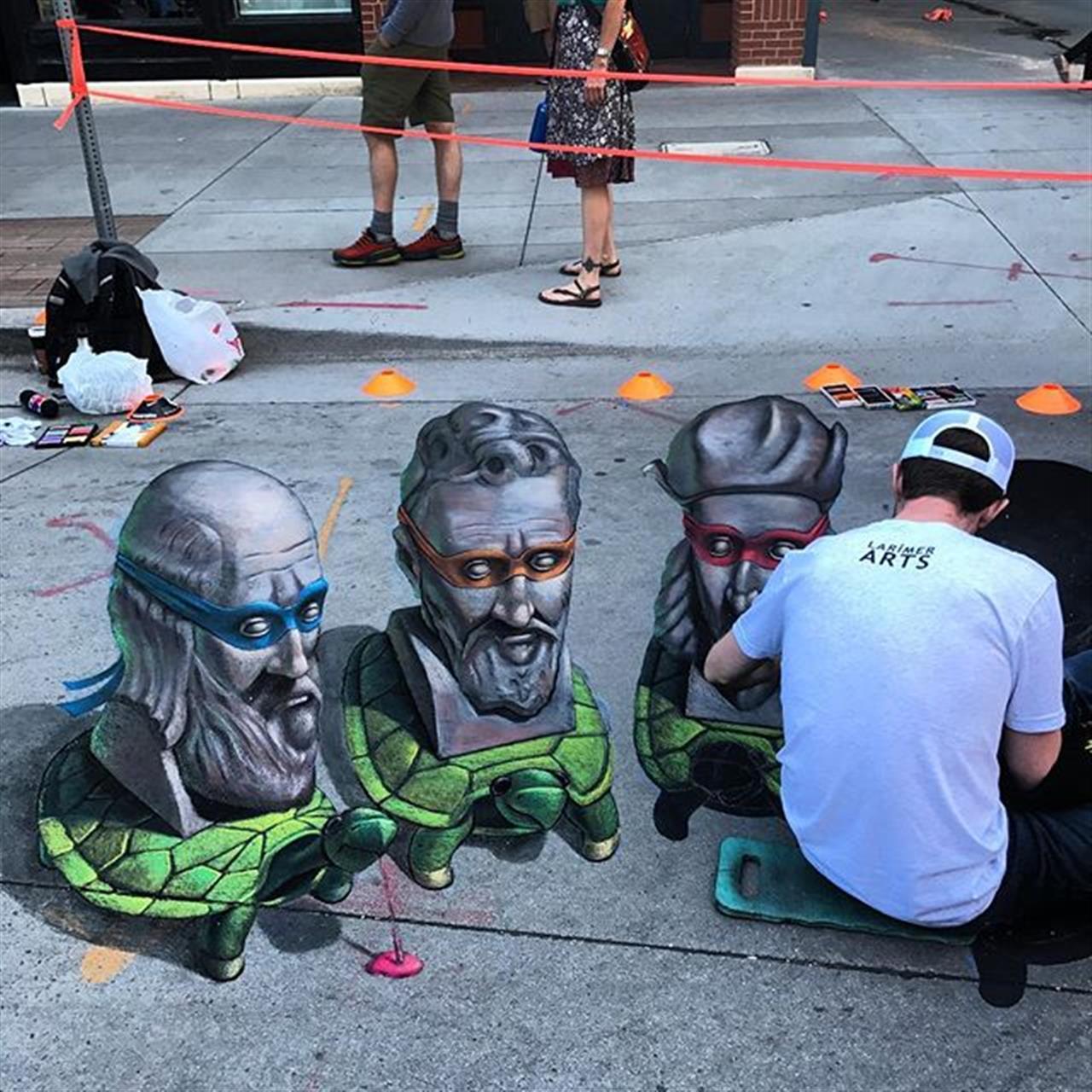 One of the 3D Chalk Art favorites from the @denverchalkart #larimersquare #denverchalkartfestival #3dart #chalkart #goexploredenver #leadingrelocal