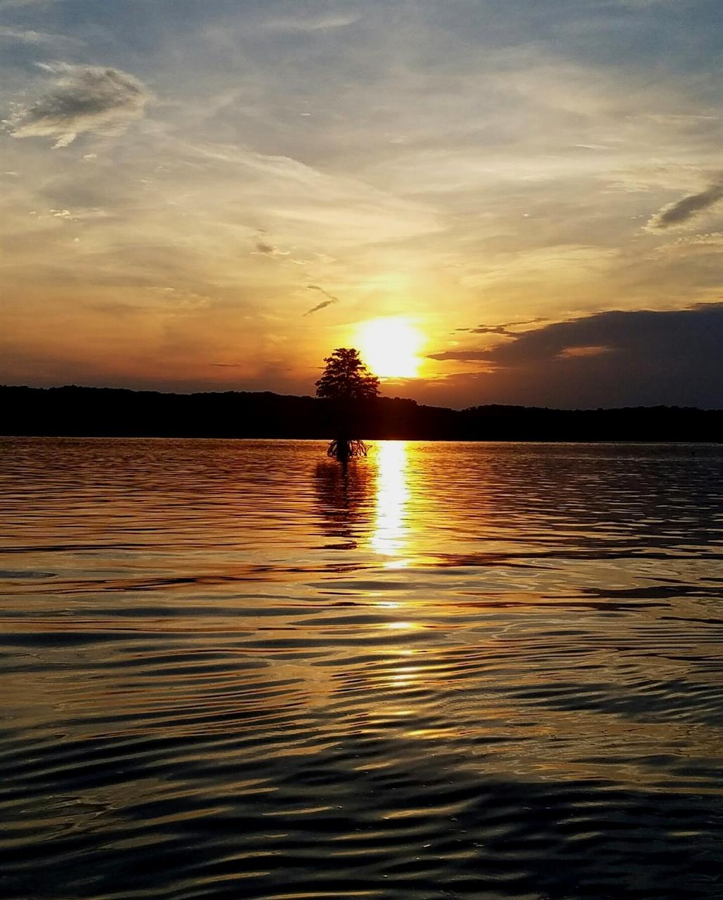Sunset over Lake Barkley in Cadiz, Kentucky