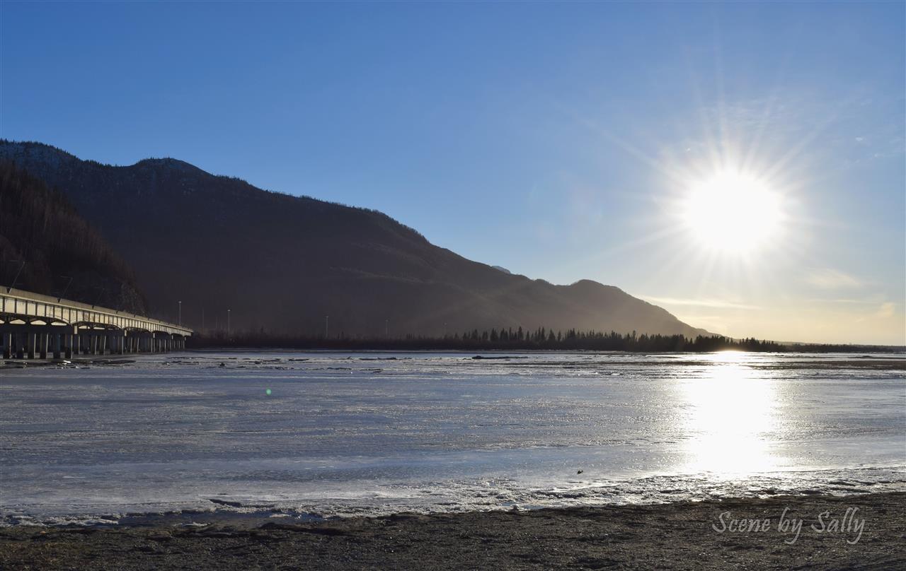 Sunshine over Knik River, Palmer, Alaska