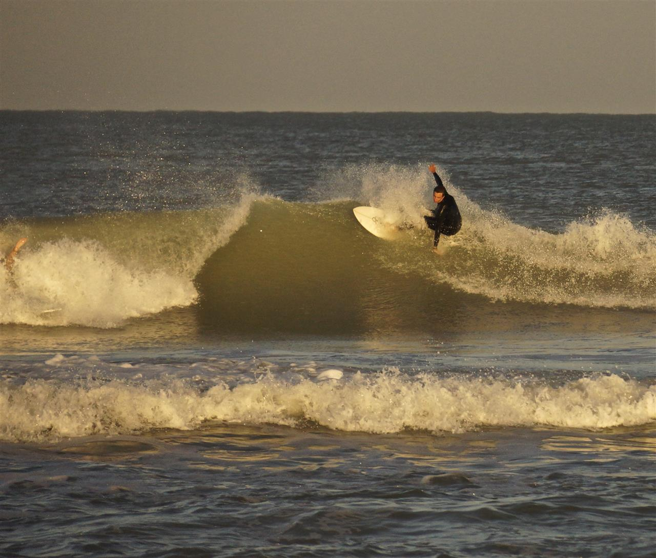 A local surfer taking full advantage of that Vero Beach golden hour before sunset...