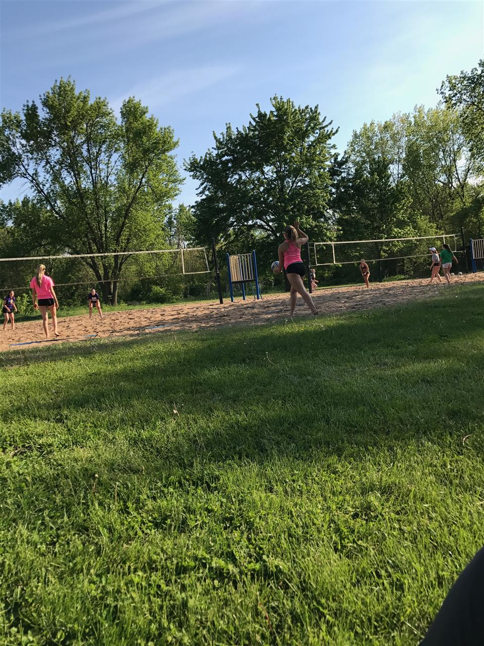 Sand Volleyball league at  Junge Park, Davenport Iowa