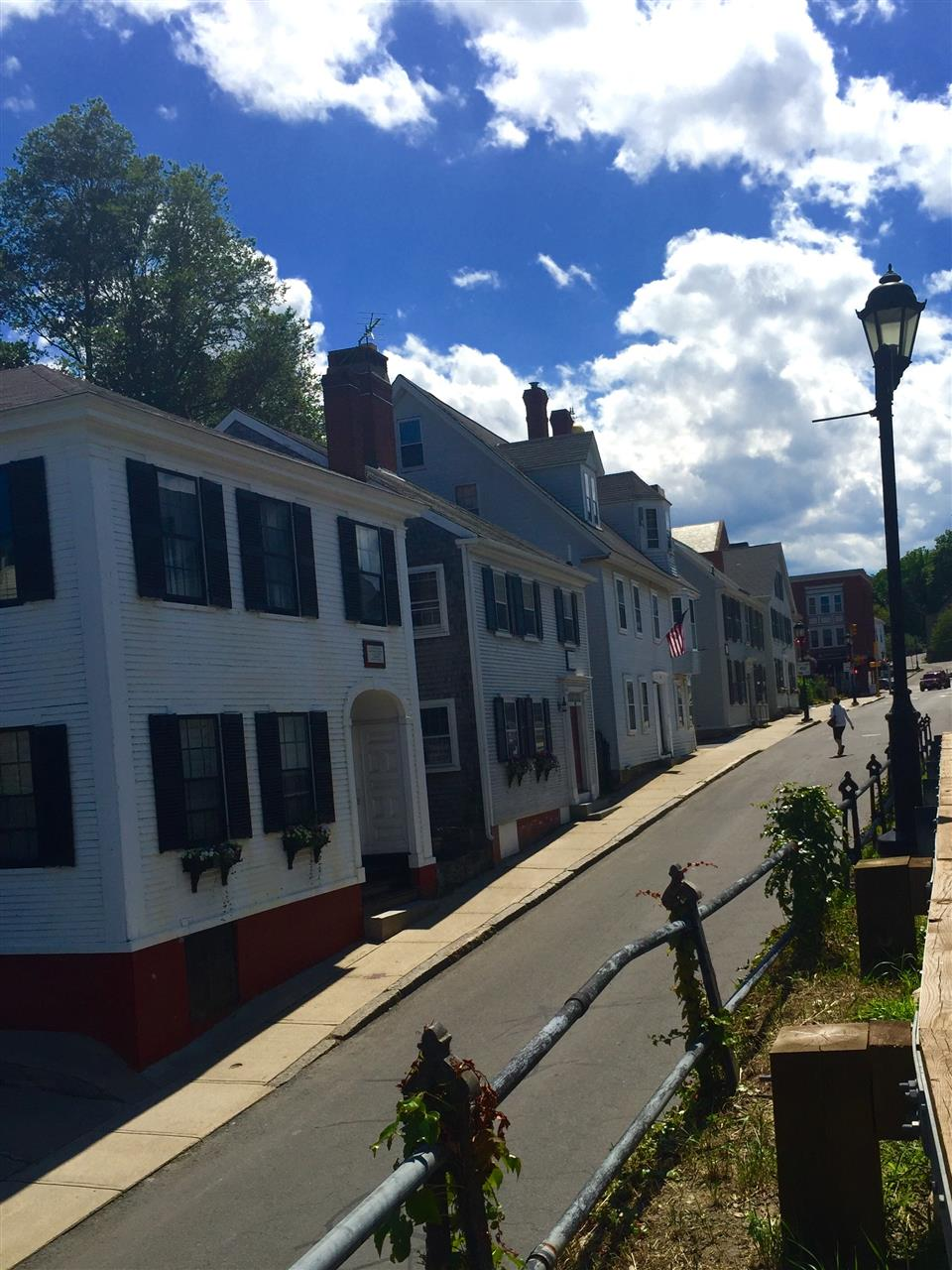 The First Street established in the United States photographed on the 4th of July. Leydon St, Plymouth, MA