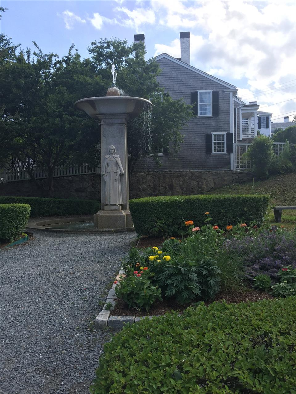 Pilgrim Women Monument and water fountain in Plymouth, MA