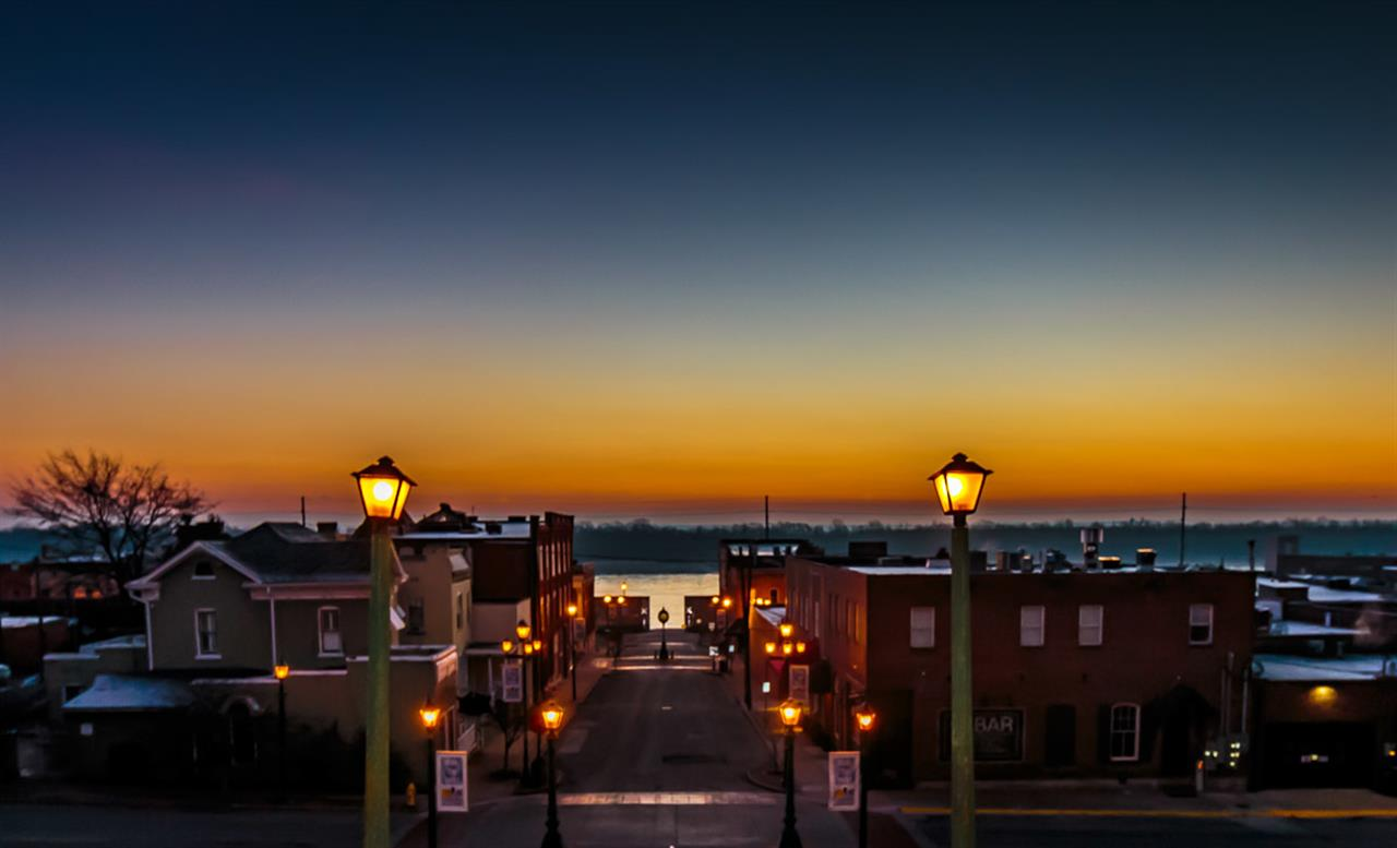 Downtown Cape Girardeau, MO at Sunrise