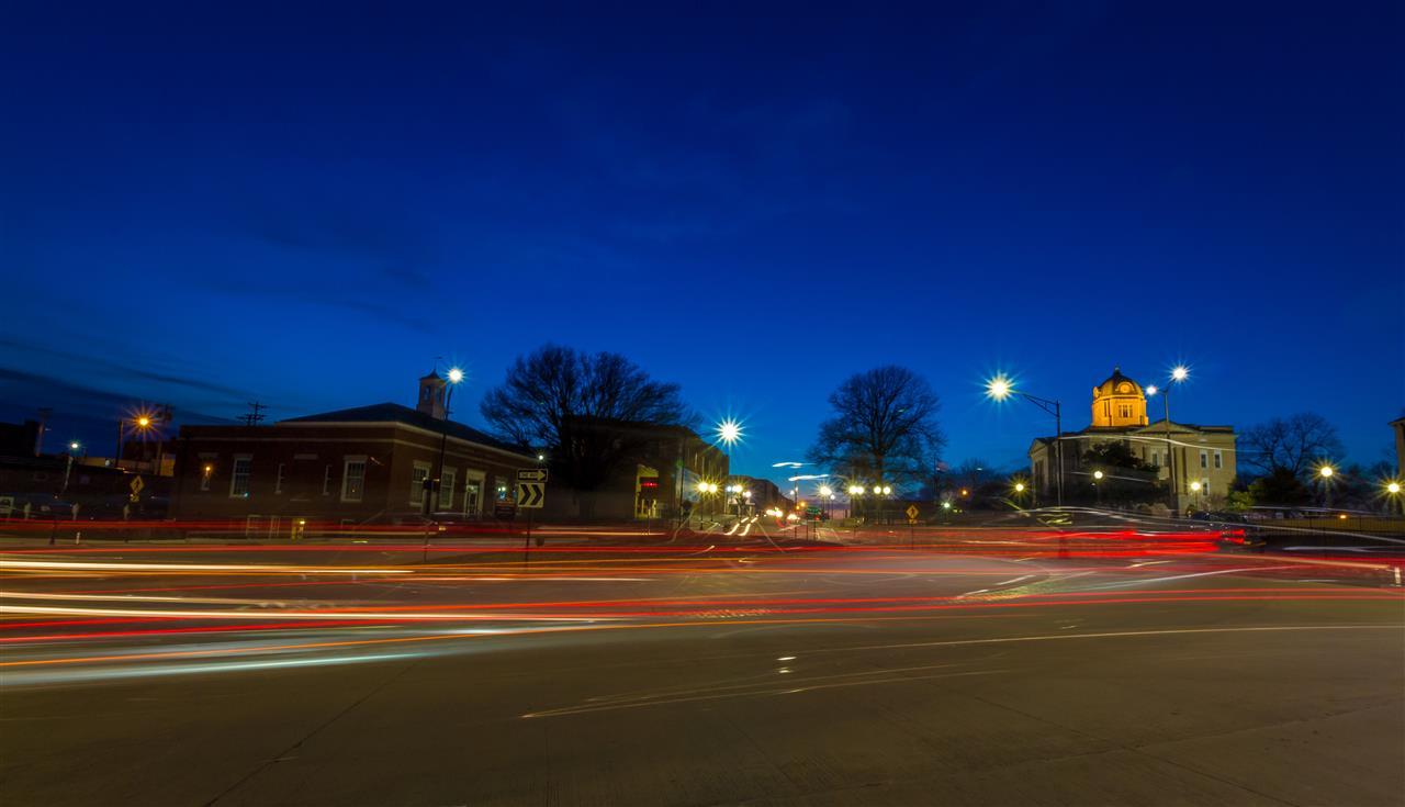 Traffic Circle looking towards Uptown Jackson, MO