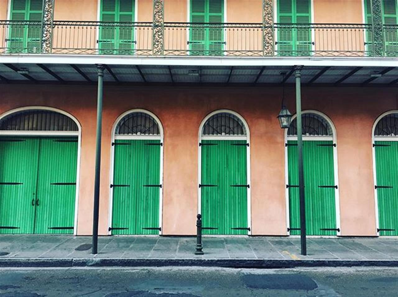 We love the peace of the @frenchquarternola on a Sunday morning.