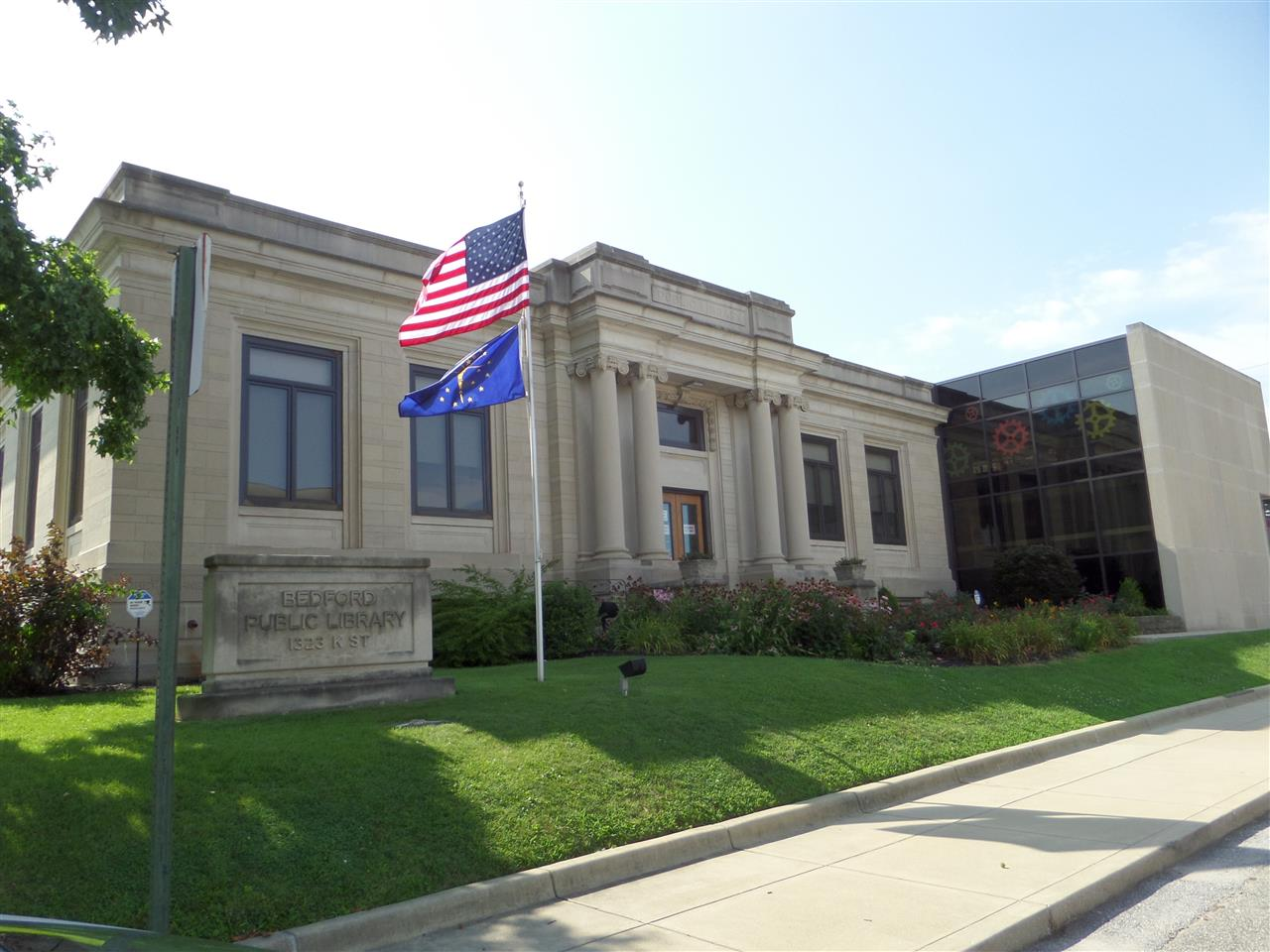 Public Library Bedford, IN Limestone Capital of the World. #leadingrelocal #CarpenterCares