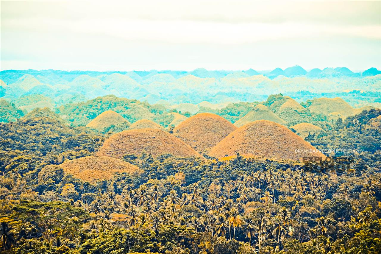 Exploring Bohol, Philippines Chocolate Hills Mahogany Forest Philippine Tarsier Conservation Area Baclayon Church Bamboo Hanging Bridge Blood compact Monument Eat lunch on Loboc River Cruise Hinagdanan Underground Cave