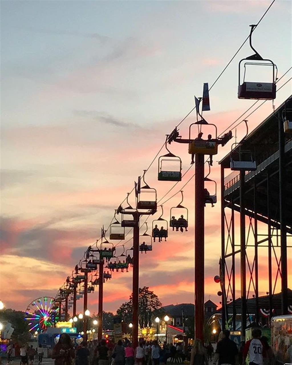 Dusk at the fairgrounds #indianastatefair #skyride #carpentercares #LeadingRELocal