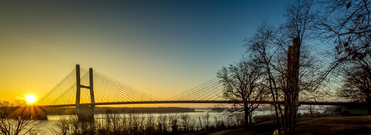 Bill Emerson Bridge over the Mississippi in Cape Girardeau, Missouri