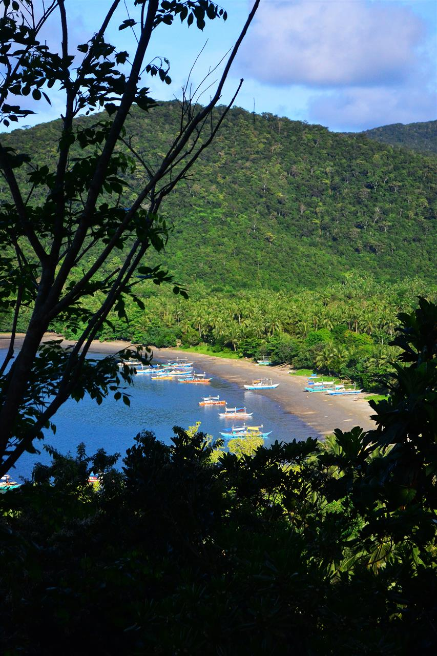 View at the top of Ermita Hill in Baler, Aurora, Philippines