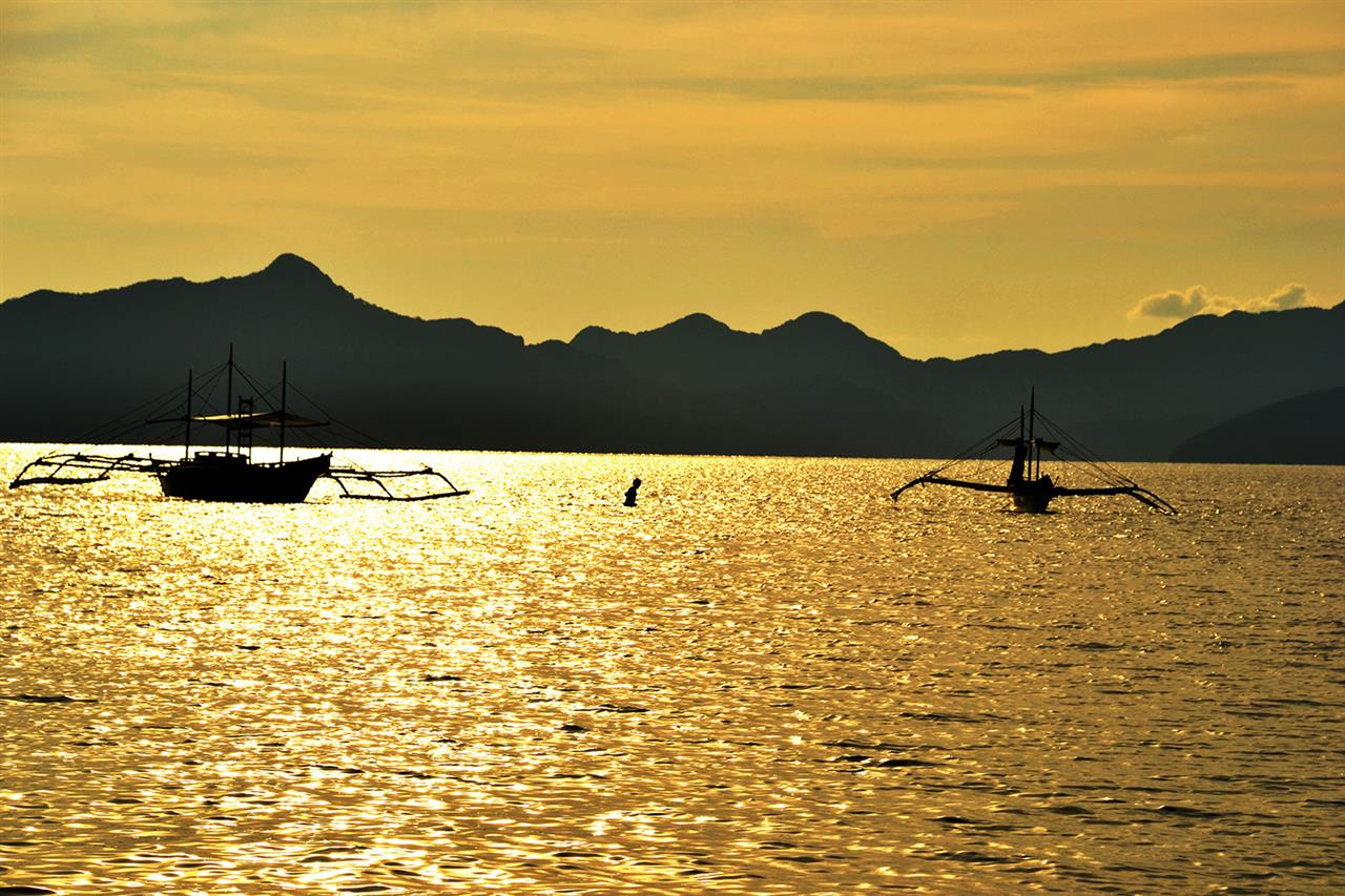 Low tide at El Nido in Palawan, Philippines