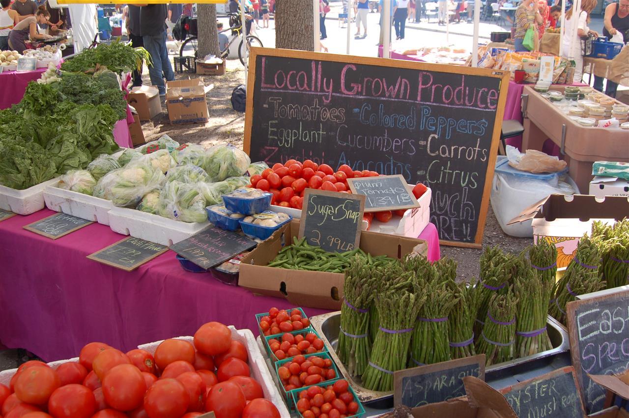 Saturday Market in downtown St. Petersburg, FL.
