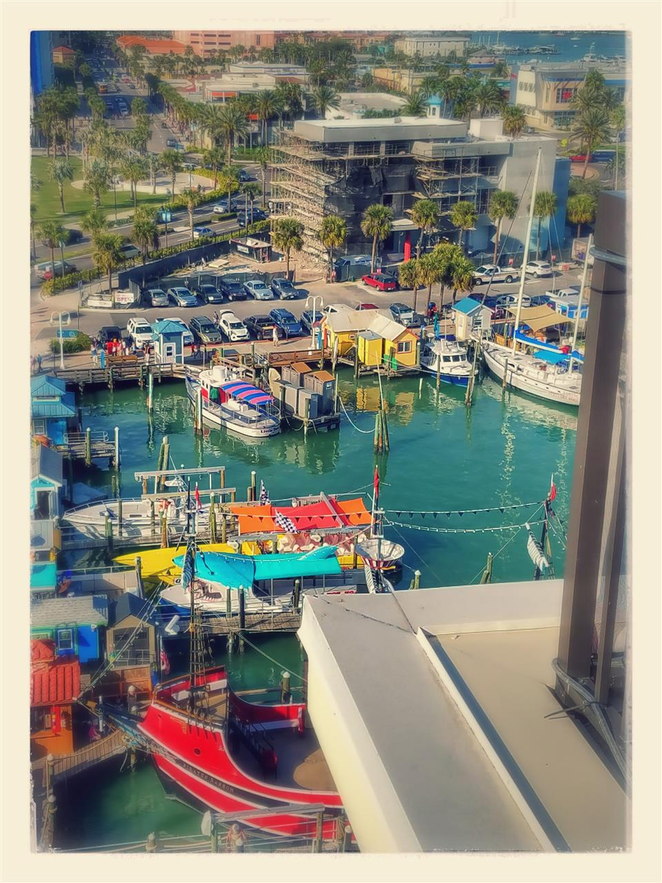 Colorful Clearwater Beach Marina, Florida