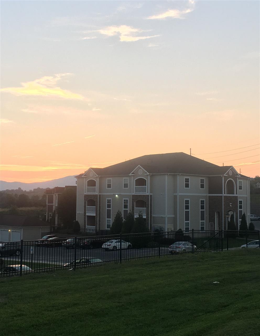 Sunrise over North 38 Apartments in Harrisonburg, VA