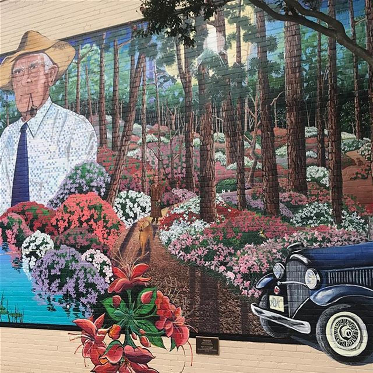 One of our murals reflecting our town's history. #leadingrelocal #pinemountainga