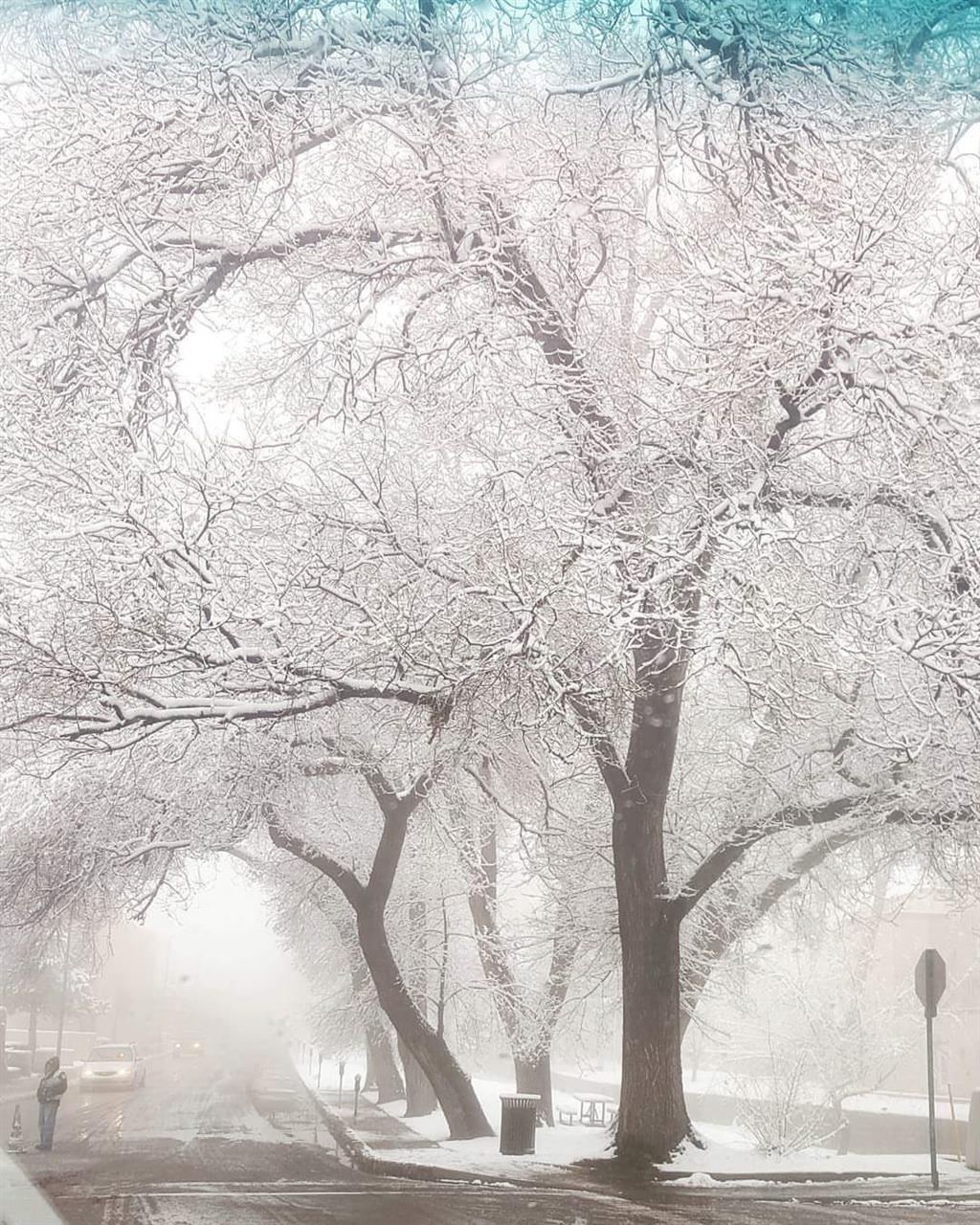 Winter in Downtown Santa Fe, NM