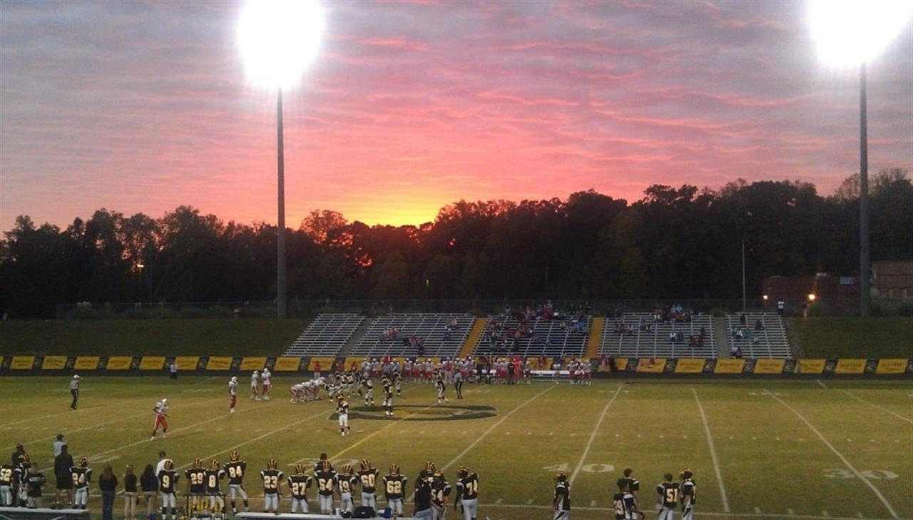 Friday night lights at Sequoyah High School, Cherokee County, Georgia