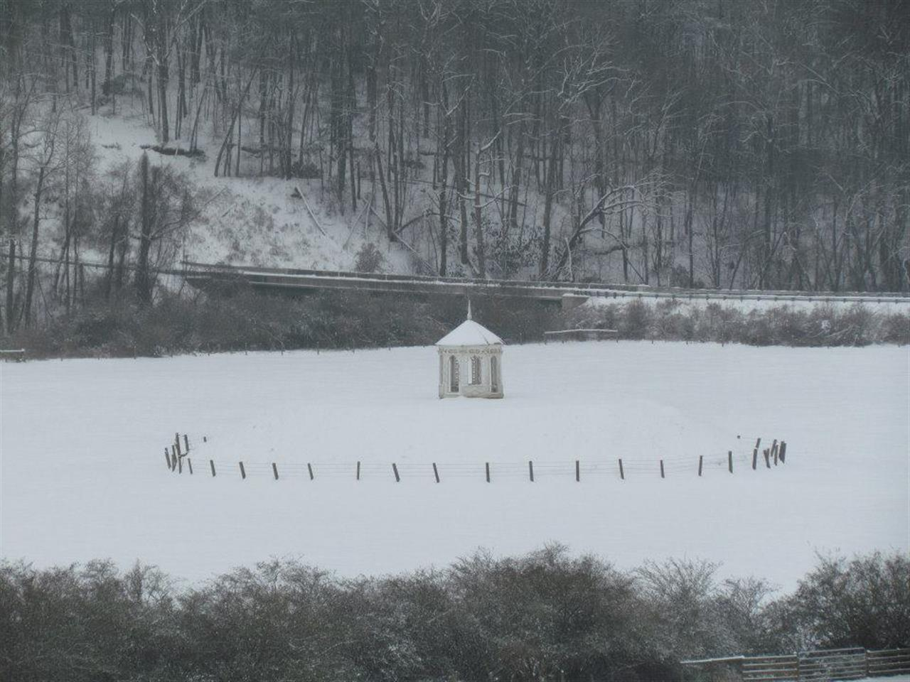 Snowy Day at the Indian Mound in the Nachoochee Valley, Helen, GA