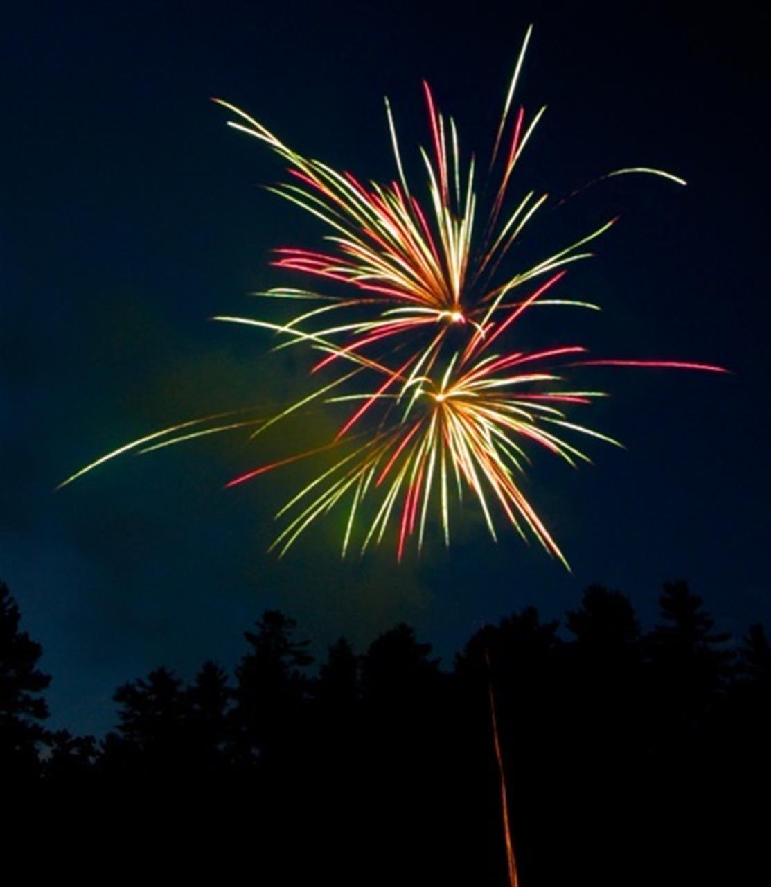 Fireworks in Sky Valley, Georgia
