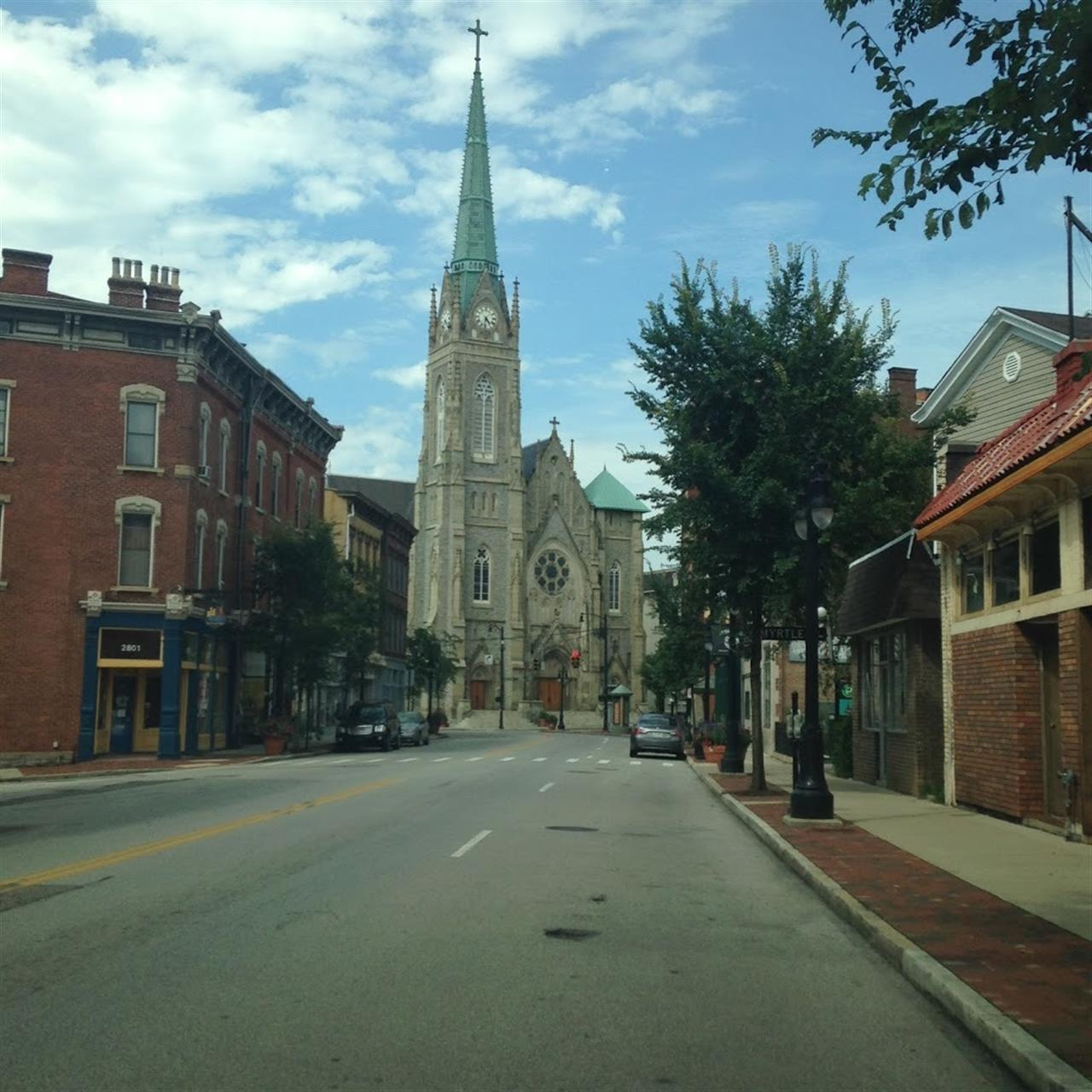 The church is St. Francis De Sales. Walnut Hills , OH