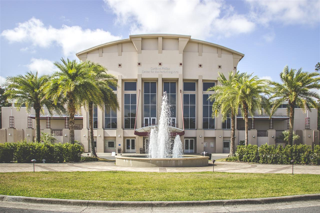 The Curtis M Phillips Center for Performing Arts 3201 Hull Road Gainesville, FL 32611 #GainesvilleFL