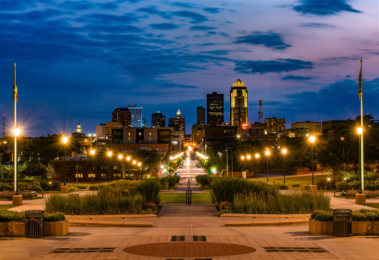 Downtown Des Moines.  #DesMoines.  Photo by Kory Polk.